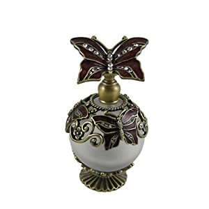 Perfume Bottle Butterfly Bejeweled Vintage Style