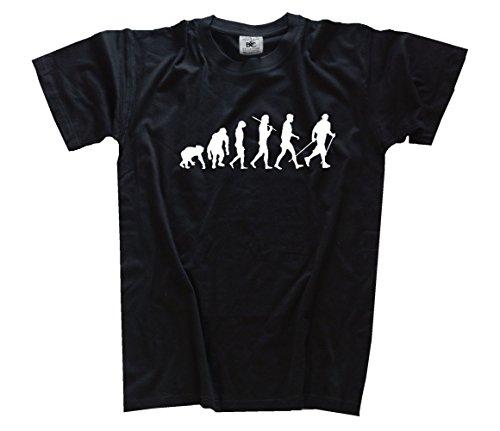 Shirtzshop-Maglietta Standard Edition Nordic Walking Laufen Gehen escursionismo, Unisex, T-Shirt Standard Edition Nordic Walking Laufen Gehen Wandern, nero, XXL