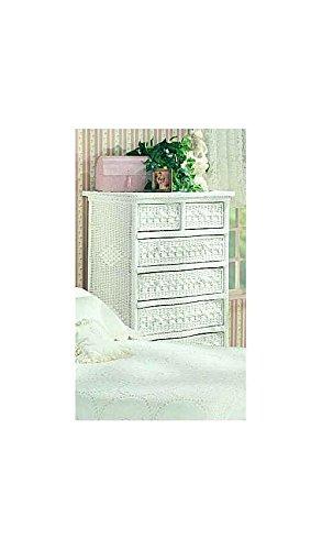 Five Drawer Wicker Bedroom Dresser