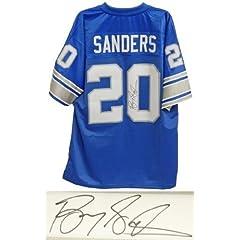 Barry Sanders Autographed Hand Signed Detroit Lions Blue NFL Pro Line Vintage Premier... by Hall of Fame Memorabilia