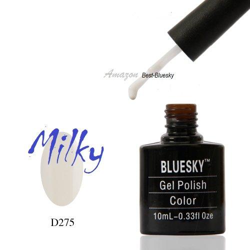 D275 Milky White Base For French Best-Bluesky Nail Polish Soak-Off Uv/Led Gel 10Ml