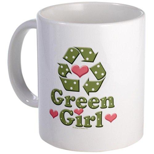Cafepress Green Girl Recycling Recycle Mug - Standard Multi-Color