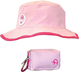 Floppy Tops Ultra Compact Reversible Sun and Rain Hat (Pink/Magenta)