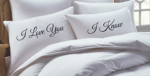 Star Wars Inspired His Hers Pillowcase Set, I Love You, I Know-Couples Gift- NEW