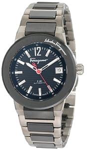 Salvatore Ferragamo Men's F54MBA78909 S789 F-80 Swiss Automatic Black Ceramic Two Tone Watch from Salvatore Ferragamo