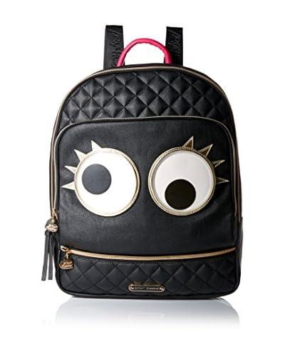 Betsey Johnson Women's Googly Moogly Backpack, Black, One Size