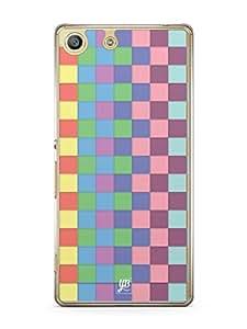 YuBingo Colourful Square Patterns Mobile Case Back Cover for Sony Xperia M5