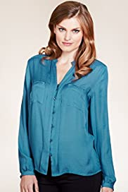 Per Una Open Neck Collar Button Fastening Blouse