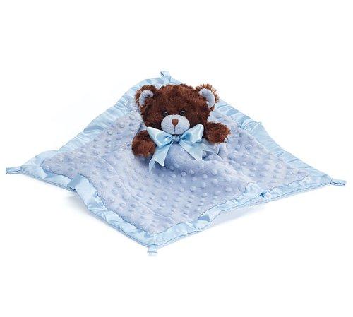 Blue Velboa Security Blanket  Plush Teddy Bear