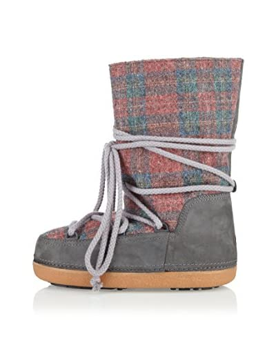 Ikkii Botas Track Scottish Pattern Tall