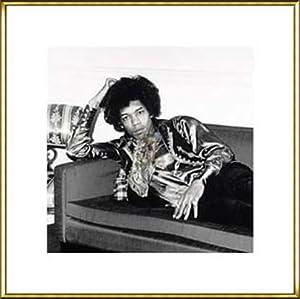 ポスター フォトグラフ Jimi Hendrix London England 1967 額装品 アルミ製ハイグレードフレーム(ゴールド)