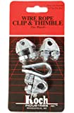 Koch Industries 143211 Wire Rope Clip and Thimble Pack with 3-Clips, 1/4-Inch, Zinc