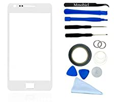 Samsung Galaxy S2 White Display Touchscreen replacement kit 12 pieces incl tools / pre cut Sticker / cleaning cloth / suction cup / wire MMOBIEL