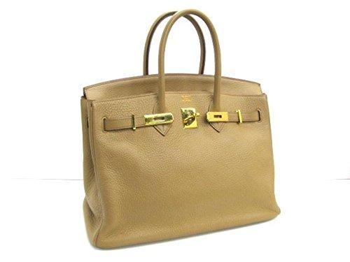 [エルメス] HERMES バーキン35 ハンドバッグ キャメル(ゴールド金具) トリヨンクレマンス [中古]