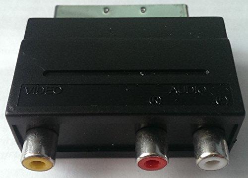 Video-AV-Adapter IN Scart stecker auf 3 x Cinch IN Zum Verbinden z.B. einer Kamera oder Spielkonsole (Cinch A/V-Ausgang) mit einem TV-Gerät (Scart)