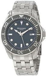 Rudiger Men's R2000-04-011 Chemnitz Grey IP Luminous Dial Watch