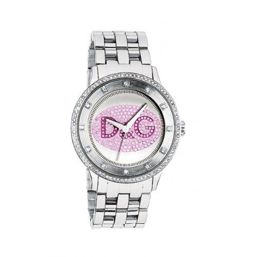 Dolce & Gabbana Prime Time orologio acciaio logo rosa DW0848