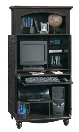 Buy Low Price Comfortable Computer Armoire in Antiqued Paint Finish (B002Q6CFZY)