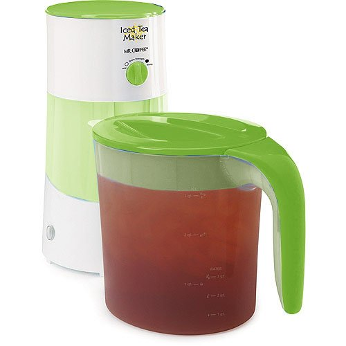 Mr. Coffee Tm70 3-Quart Iced Tea Maker W/ Steeping Control, Lime Green