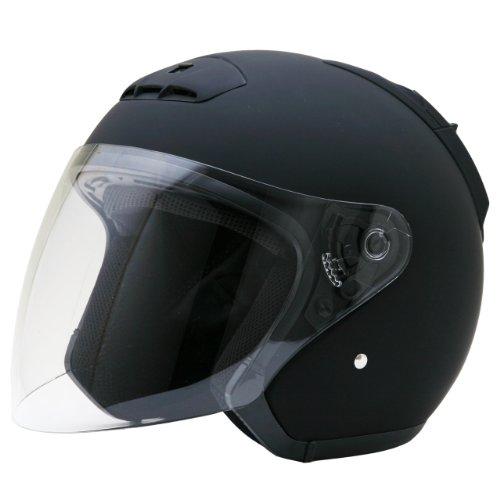 ネオライダース (NEO-RIDERS) SY-5 オープンフェイス シールド付 ジェット ヘルメット マットブラック XXLサイズ 63-64cm未満 SG/PSC SY-5