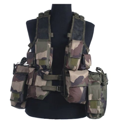 French CCE Camo Army South African Assault Military Combat Paintball Tactical Vest Airsoft