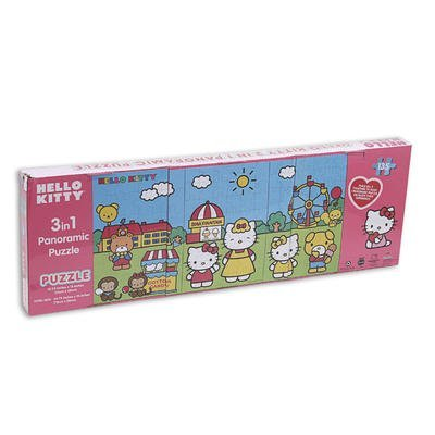 3 in 1 Hello Kitty Panoramic Puzzles - 1