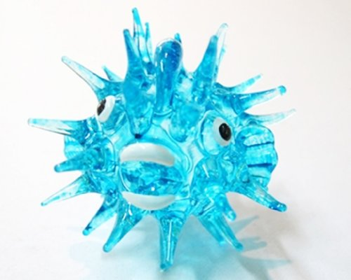 Coastal Style MINIATURE HAND BLOWN Art Glass Fish No. 36 Blue FIGURINE Collection (Microwave Trim Kit 36 compare prices)