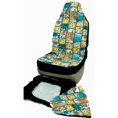 Hawaiian Car Seat Covers, Hula Girls, set of 2 Front Bucket seat covers, Made in Hawaii USA