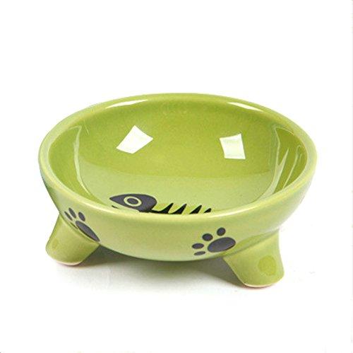 small raised cat food bowl stand ceramic feeder feeding storage pet supplies new. Black Bedroom Furniture Sets. Home Design Ideas