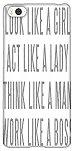 Snoogg Lady Mantra Solid Snap On - Back Cover All Around Protection For Xiaom...