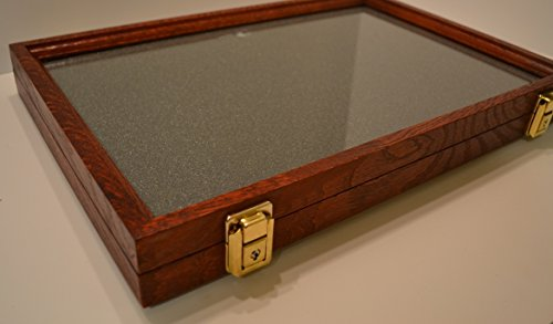 two timbers display case oak with cherry finish 2 x12 x18 wooden box with glass top arrowheads. Black Bedroom Furniture Sets. Home Design Ideas