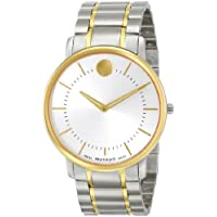 Movado 606689 Mens Silver Dial Two-tone Mens Watch