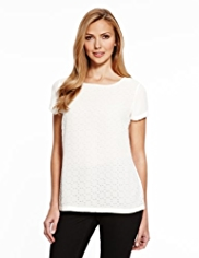 M&S Collection Cutwork Shell Blouse