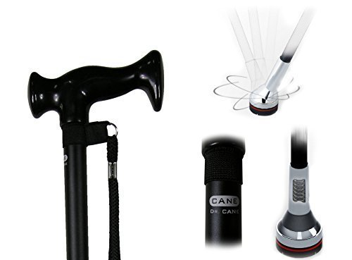 Dr. Cane Adjustable Walking Cane with 360 Degree Pivoting Base Suspension System
