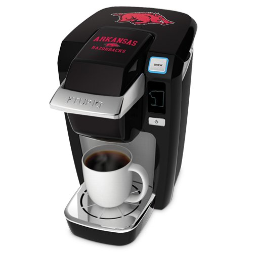Keurig K10 Black Mini Plus Single Cup Personal Brewer With University Of Arkansas Decal Kit front-612563