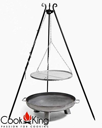 COOK KING BBQ Schwenkgrill Edelstahlrost 70cm + Feuerschale Bali 70 cm ***NEU*** günstig