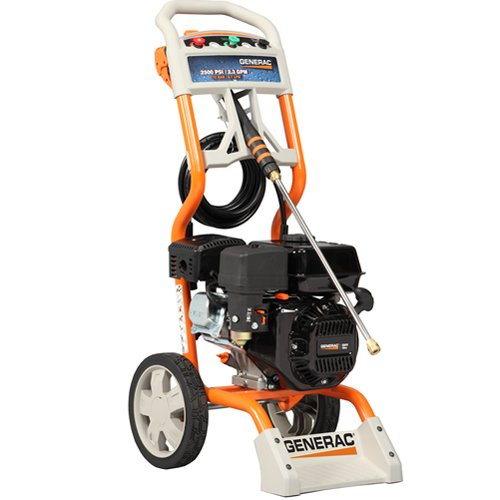 Generac 6020/5987 2,500 PSI 2.3 GPM 196cc OHV Gas Powered Pressure Washer