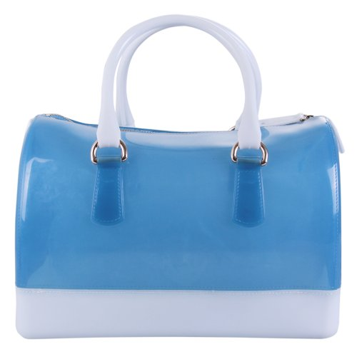 Ecosusi Crystal Colored Candy Handbags (Blue and White)