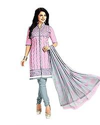 Aarvi Women's Cotton Unstiched Dress Material Multicolor -CV00103