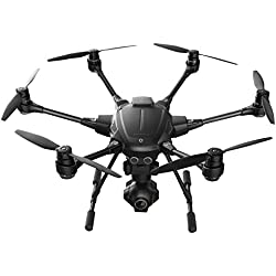 YUNEEC Typhoon H Hexakopter (CGO3 plus Kamera 12 MP, 4K UHD Videofunktion, 17,8 cm (7 Zoll) Touchscreen, Intel-Prozessor) schwarz