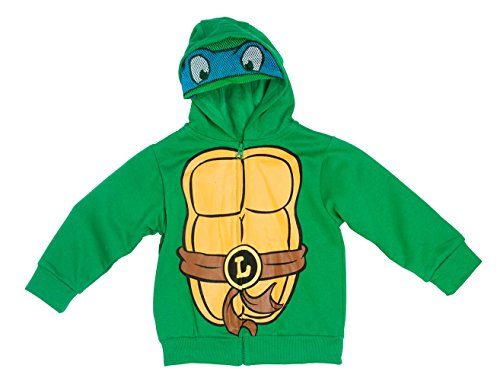 Toddler Boys Teenage Mutant Ninja Turtles Leonardo Masked Hoodie