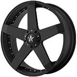 "KMC Wheels KM775 Rockstar Car Matte Black Wheel (17x7.5""/5x100, 114.3mm, +42mm offset)"