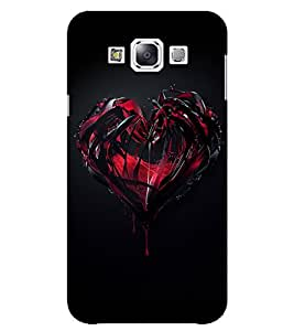 Evaluze heart Printed Back Case Cover for SAMSUNG E5 2015