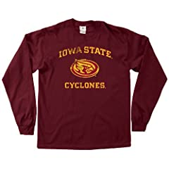 NCAA Iowa State Cyclones 100-Percent Pre-Shrunk Vintage Mascot Long Sleeve Tee,... by SDI