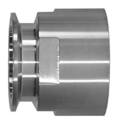 Dixon 22MP-G150 Stainless Steel 304 Sanitary Fitting, Clamp Adapter, 1-1/2\