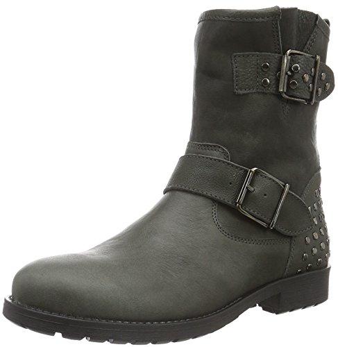 Clic!STIEFELETTE - Stivali a metà gamba con imbottitura pesante  Bambina , Grigio (Grau (Buttero Vary)), 35 EU