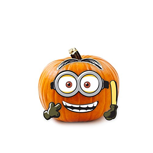 Minions Movie Despicable Me Halloween Wood Pumpkin Push-in 5 Pieces