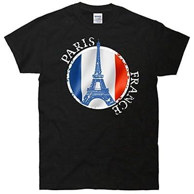 Paris France Peace Eiffel Tower Flag T-Shirt