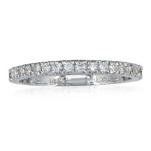 SuperJeweler 14 Karat White Gold .40ct Round Diamond Wedding Band Anniversary Ring