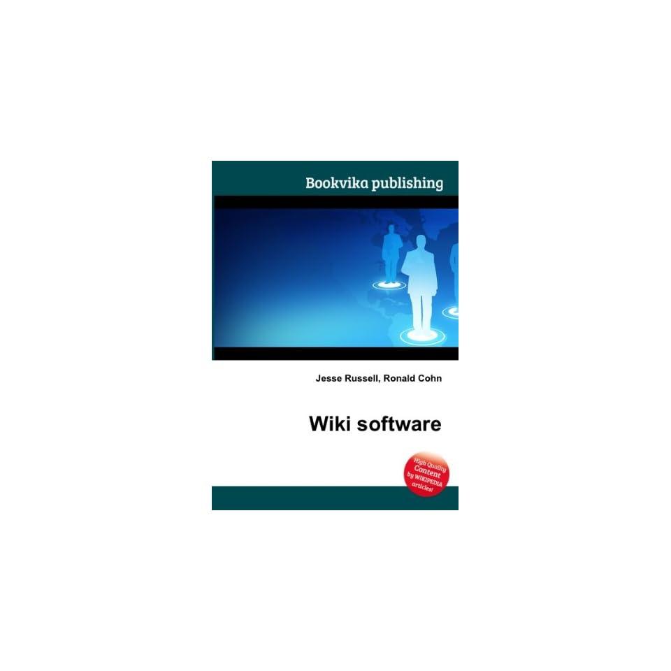 Wiki software Ronald Cohn Jesse Russell Books